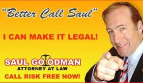 Better call Saul Werbung AMC Saul Goodman