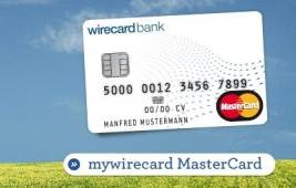 Screenshot von der Mywirecard Website