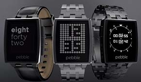 Pebble Steel 2014 Smartwatch E-Ink Display CES